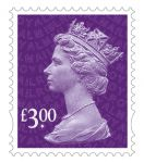 Definitives 2019 - Machin £3 non visible change printed by Walsall (International Security Printers)