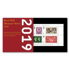 2019 Year Of Miniature Sheets Royal Mail