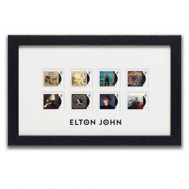 Elton John Framed Set Of Stamps Royal Mail