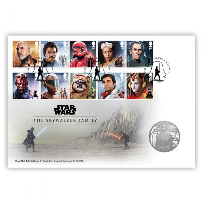 Star Wars The Last Jedi First Day Cover Collectible Postage Stamps Royal Mail