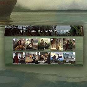 Royal Mail The Legend of King Arthur stamps