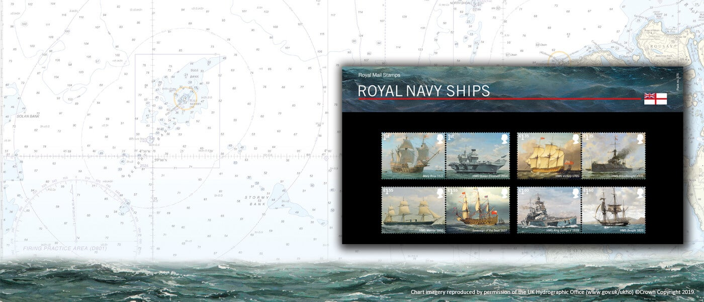 Royal Navy Ships Special Stamps